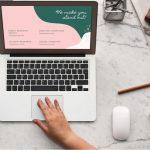 a digital marketer works on a laptop